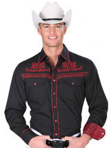 Western Shirt L/Sleeve (Spcls) El General 55% Cotton 45% Polyester ID 34... - £25.00 GBP
