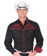Western Shirt L/Sleeve (Spcls) El General 55% Cotton 45% Polyester ID 34... - £24.47 GBP