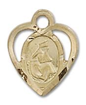 14K Gold O/L of La Salette Medal 3/8 x 1/4 inch - $172.60