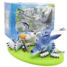 LANANH GEM Digimon Adventure Garurumon & Yamato PVC Figure Collectible M... - $87.00