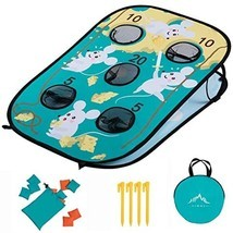 Himal Corn-Hole-Boards with Bean-Bag-Toss-Game Collapsible Portable 5 Ho... - £36.25 GBP