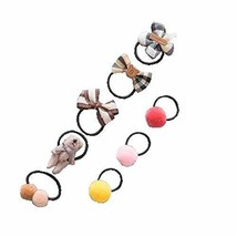 8 Pcs children Toddler Baby Girl Floral Hair Ring Hair Rope accessories - $202,06 MXN