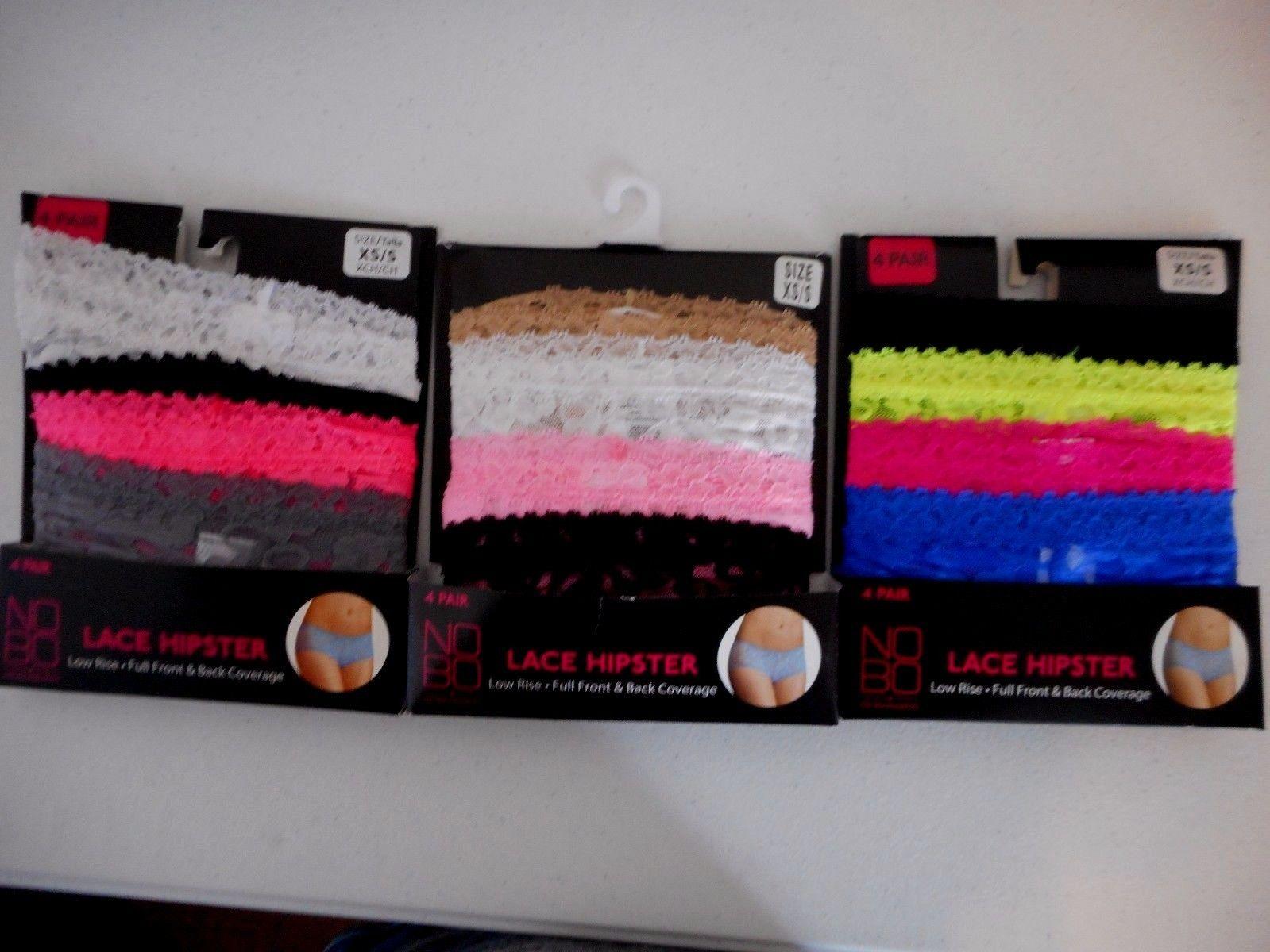 4dfc43e20501 Women's Juniors No Boundaries Lace Hipsters 12 Pack Size XS/S White Black  NEW - $28.70