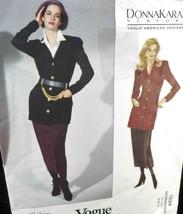 Vogue 1034 Womens 8-12 Skirt Jacket Semi fitted  below hip Donna Karan U... - $6.33