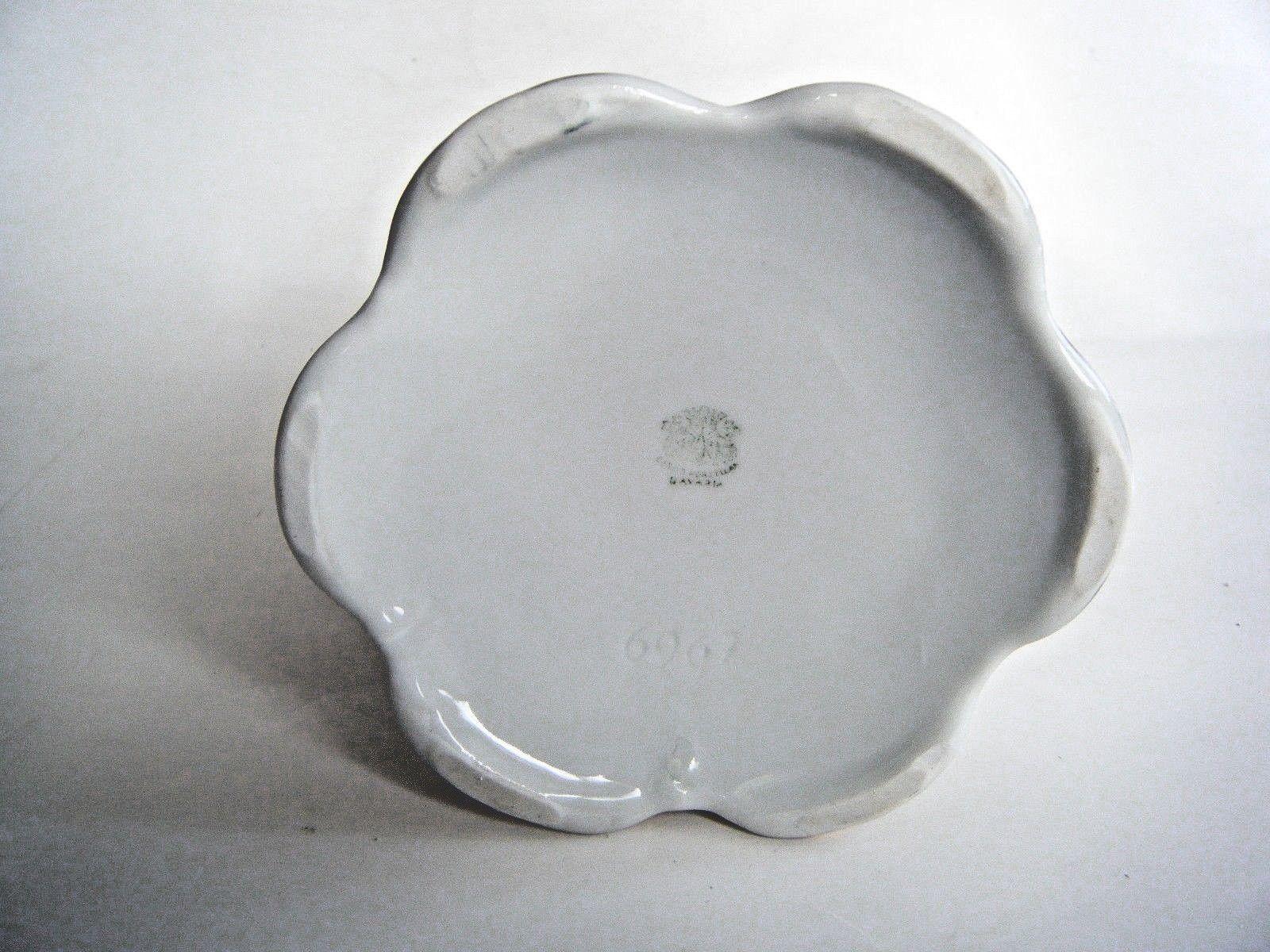 Vintage German Porcelain Tall Pitcher Vase Tankard Flower Pattern Bavaria