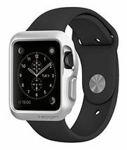 Spigen Slim Armor 42mm 2015 Apple Watch Case w/2 Screen Protectors - Silver - $10.99