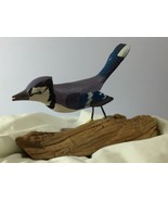 Vtg Casa Fernandez Hand Crafted Painted Carved Blue Jay Bird Piece of Dr... - $49.28