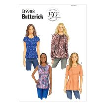 Butterick Patterns B5988 Misses'/Misses' Petite Top Sewing Template, Siz... - $14.70