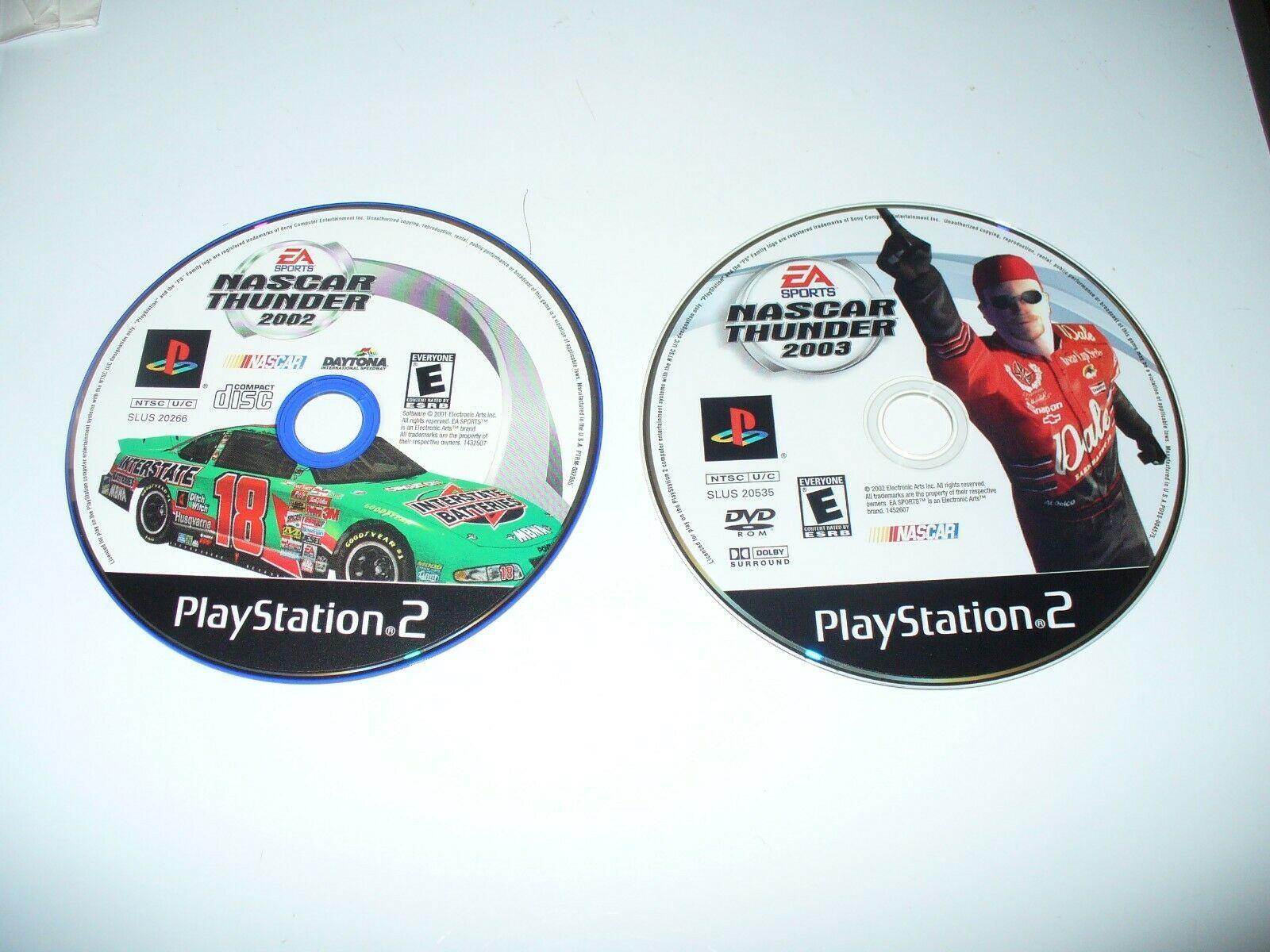 Lot of 2 NASCAR Thunder 2002 & 2003 (Sony PlayStation 2) - Discs & Generic Case - $5.94