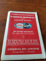 1946 Maritime Provinces & Eastern Quebec road map Imperial Esso oil gas ... - $4.95