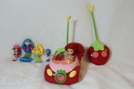 Strawberry Shortcake Remote Control Car & Remote With Lot of 4 Dolls  - $27.71