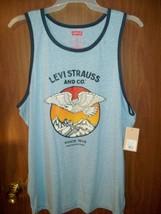 NEW MEN'S LEVI'S STRAUSS & CO. TANK TOP SHIRT SIZE 2XL BLUE EAGLE - $15.63