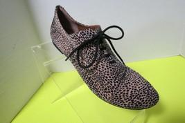 Gianni Bini Womens Leopard Print Oxford Lace Shoes Size 7.5 - $19.75