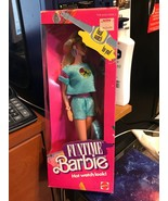 1986 Mattel Funtime Barbie Hot Watch Look Blue Outfit Mattel New In Box - $16.70