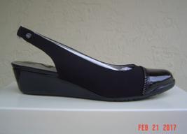 New Anne Klein Beige Black Gray Wedge Pumps Size 7.5 M 8 M $69 - $36.72