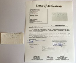 RICHARD NIXON SIGNED CUT PRESIDENT JSA COA AUTOGRAPH DATED WATERGATE REP... - $499.00