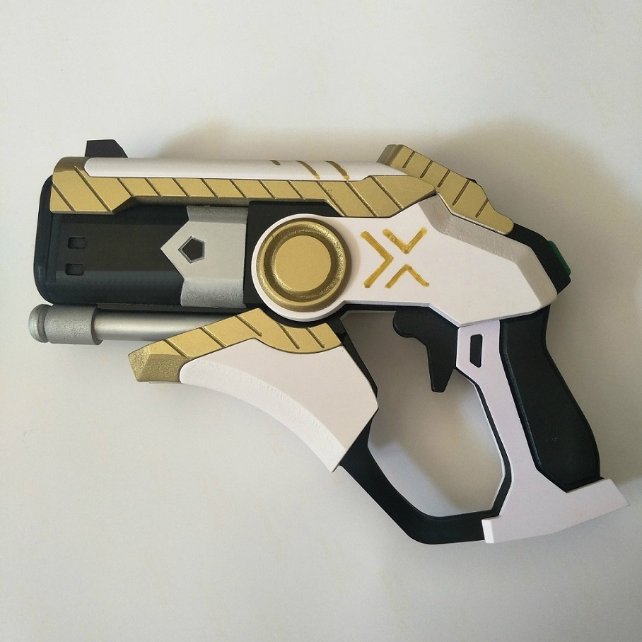 Overwatch mercy skin winged victory weapon cosplay replica caduceus blaster for sale