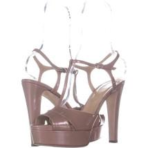 Sergio Rossi A77690 T-Strap Sandals 102, Soft Bright Skin, 10 US / 40 EU - $270.71