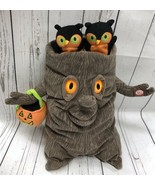 Hallmark Animated Spooky Halloween Tree Plush Owls Sings Addams Family w... - $25.65