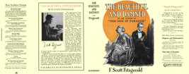 Fitzgerald THE BEAUTIFUL and DAMNED facsimile jacket for 1st ed/early (N... - $28.87