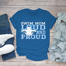 Swimming Funny Tee Swim Mom Funny Swimming Swimmer Cheer Mom Unisex - $15.99+