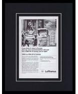 Lufthansa / Europe Framed 11x14 ORIGINAL Vintage Advertisement  - $41.71