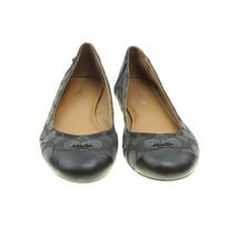 COACH Chelsea Womens Size 8 Black Jacquard Signature Logo Cap Toe Ballet Flats - $48.50