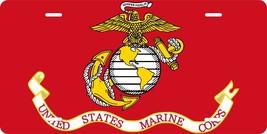 Marine USMC Flag License Plate Personalized Custom Auto Bike Motorcycle ... - $10.99+