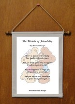 The Miracle of Friendship - Personalized Wall Hanging (243-1) - $18.99
