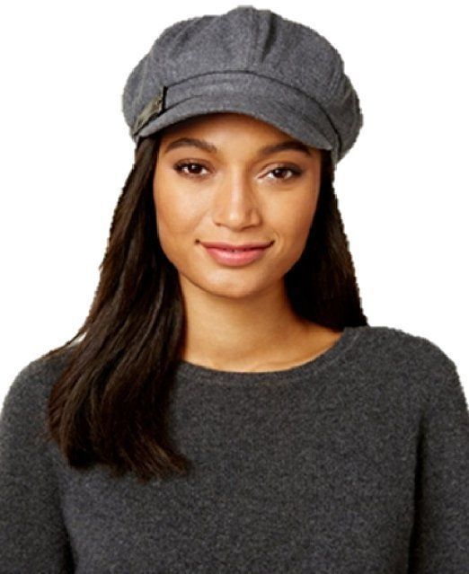Nine West Black Wool Felt Braided Trim Newsboy Cabbie Hat O//S One Size New NWT