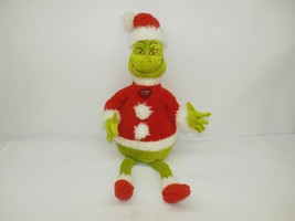 Hallmark Dr. Seuss Grinch Santa Claus w/ Light Up Heart Plush Toy, 2007 - $19.79