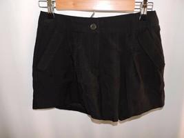 BCBGeneration Shorts BCBG Solid Black Pleated Summer Cruise Belt Loop Po... - $22.43