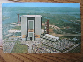 Postcard John F Kennedy Space Center NASA Apollo saturn 5 facilities com... - $10.00