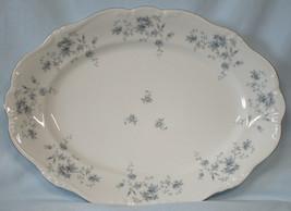 "Johann Haviland Bavaria Blue Garland Platinum Oval Platter 14 3/4"" - $35.53"