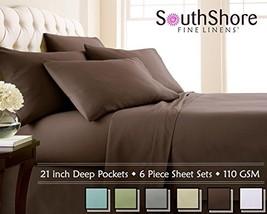 Southshore Fine Linens 6 Piece - Extra Deep Pocket Sheet Set - CHOCOLATE BROWN - - $50.73