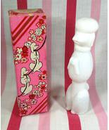 Sweet Vintage Avon Bon Bon White Poodle Perfume Bottle Topaze Cologne FU... - $10.00