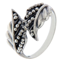 Solid Sterling Silver Leaf Ring » R28 - $19.50