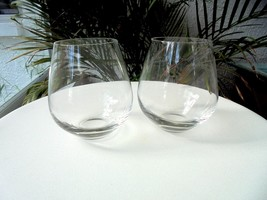 Set of 2 Lenox Tuscany Pattern Clear Crystal Old Fashioned Glasses - $24.74