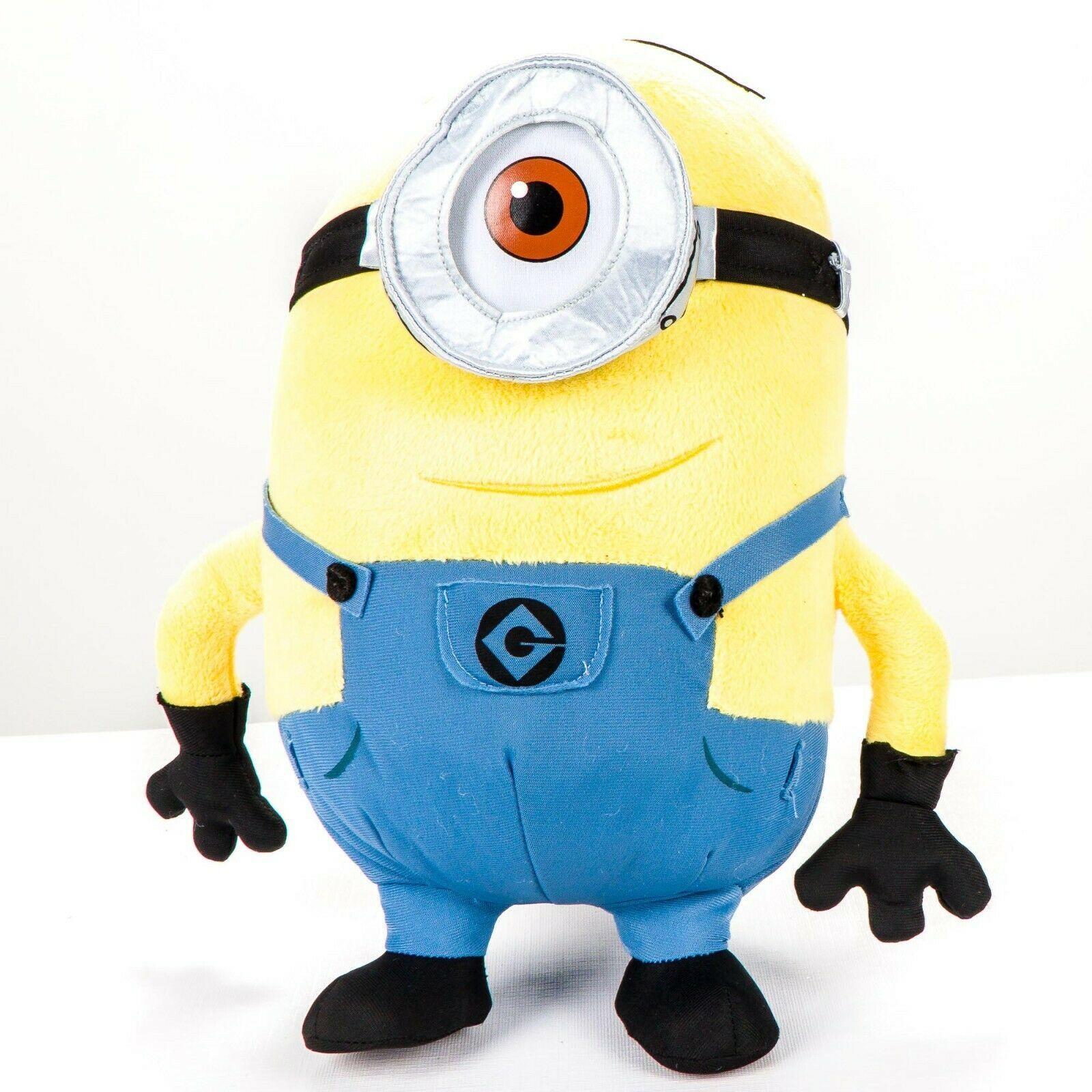 "Despicable Me Minion Stuart Plush 12"" Mayhem Universal Studios One Eye Goggles - $21.64"