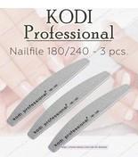 NEW Kodi professional Nailfile Half Grey 180/240 for natural and artific... - $16.83