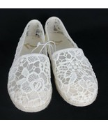 Report women's shoes siracha espadrilles flats ivory size 7 - $17.99