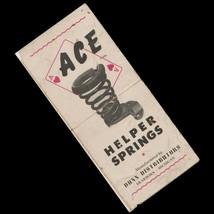 1952 Ace Helper Springs Brochure Dunn Distributors Automotive 4x8 Ace of... - $19.79