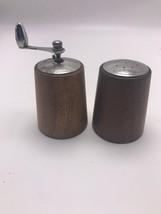George S. Thompson Pepper Mill Salt Shaker Set Teak Vintage Mid Century ... - $36.27