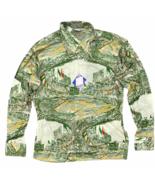 Vintage Deadstock 1970's Disco Button Shirt Size L Burma Cassini Basebal... - $44.99
