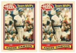 (2) 1989 Topps Hills Team MVP's Baseball #11 Andre Dawson Card Lot Cubs - $2.49