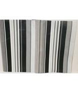"Thin Peva Vinyl Tablecloth 52""x70"" Oval, MULTICOLOR STRIPES,black,grey,w... - $8.90"