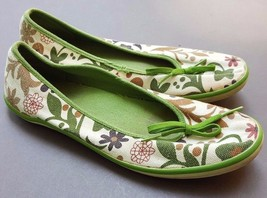 KEDS Multi Colored Flower Slip On Flat Canvas Shoes Sz 10 - $20.90