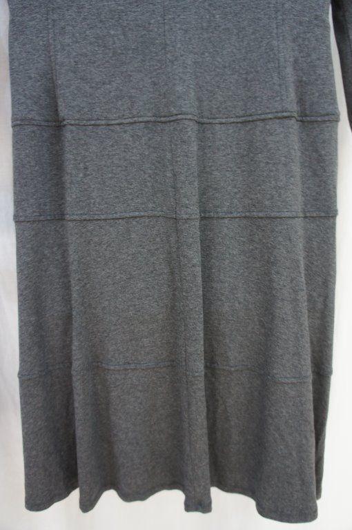 Anne Klein Dress Sz 10 Heather Grey A Line Viscose Jersey Casual Business Dress