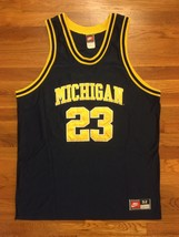Authentic NCAA Nike Michigan Wolverines Kirk Taylor College Road Jersey 52 2XL - $399.99