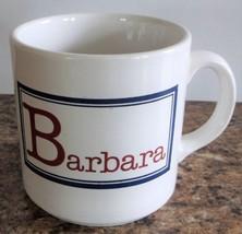 "Ceramic ""Barbara"" Coffee Tea Hot Chocolate Mug Cup with a Capital B  Eng... - $12.86"
